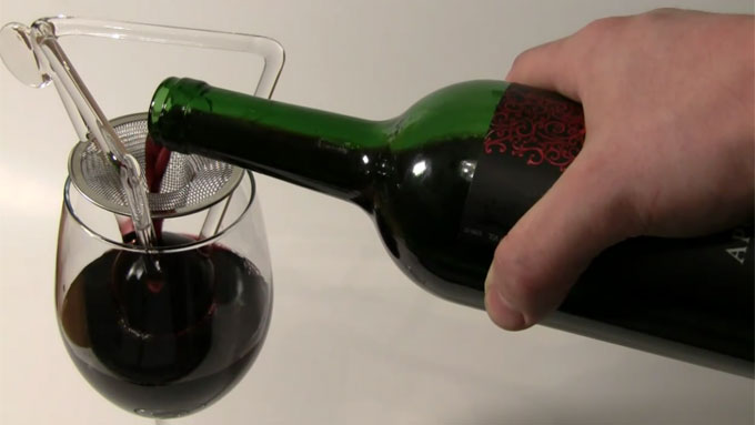 Aerating your wine helps to mellow and improve the flavour